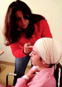 Milu Cabrer con la actriz Marina Salas
